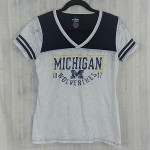 Michigan Wolverines burnout t-shirt sz M